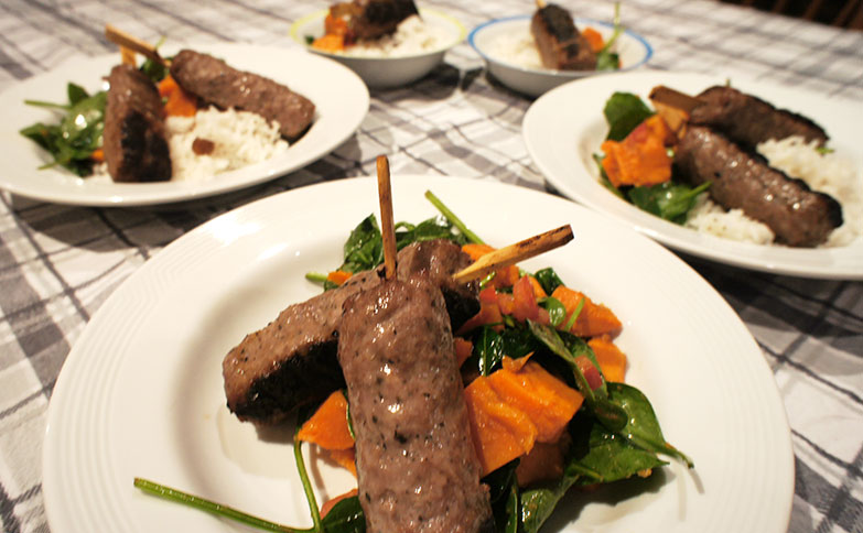 Lamb Kofta and Pumpkin Salad - The Yummy Mummy Club